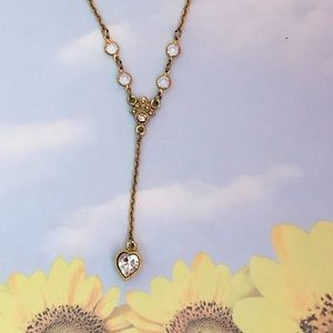 Vintage 70's Gold Necklace w/Heart Pendant